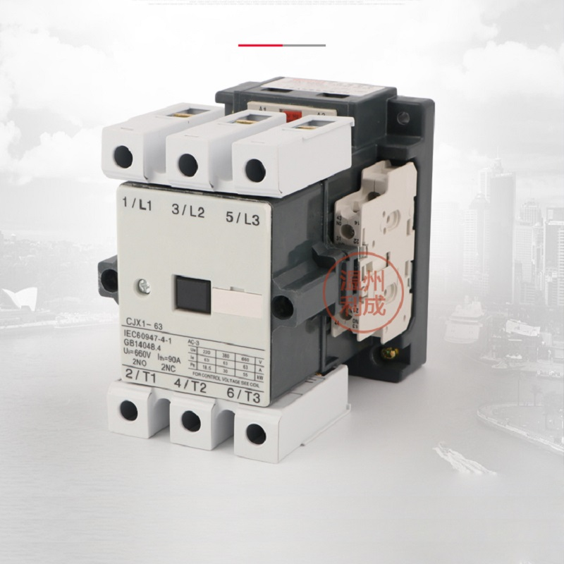 все цены на AC contactor CJX1-63/22 (3TF47) AC220V/380V silver point 2NO+2NC low voltage contactor онлайн