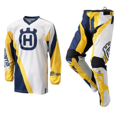2018 para husqvarna estilo motocross terno motobiker corrida equitação camisa calças define motocicleta mx equitação roupas