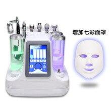 7 в 1 Гидро Вода Алмазный вакуумный пилинг машина с светодиодный светильник маска фотон спа машина для очистки лица