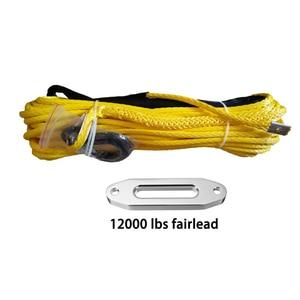 Image 2 - 10mm * 30 m สังเคราะห์สาย hook & 12000lbs black hawse fairlead สำหรับ 4wd recovery