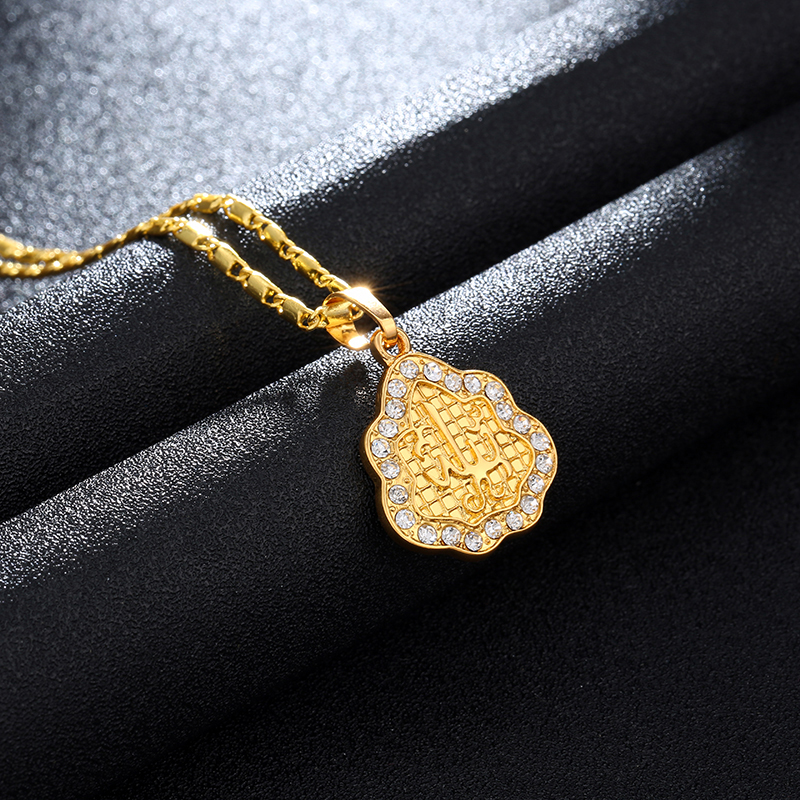 New Gold Color Middle East Arab Muslim pendant necklace for men/women Islam Religious jewelry accessories Gift Bijoux