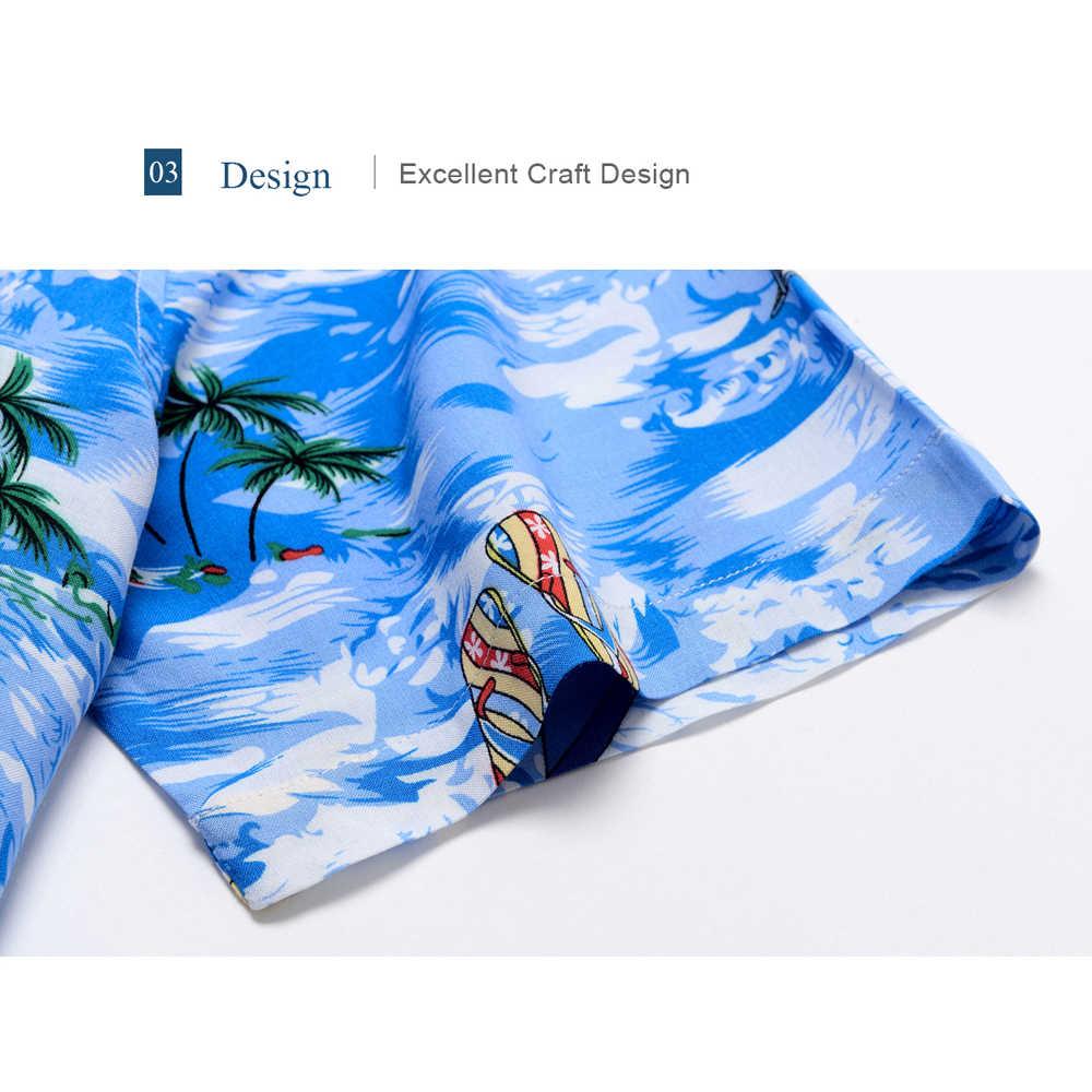 2019 ブランド新メンズ半袖ビーチアロハシャツ夏綿カジュアル花シャツプラスサイズ 6XL メンズ服ファッション