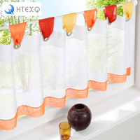 British Half Curtain Embroidered Window Valance Customize Light Shading Curtain For Kitchen Cabinet Door