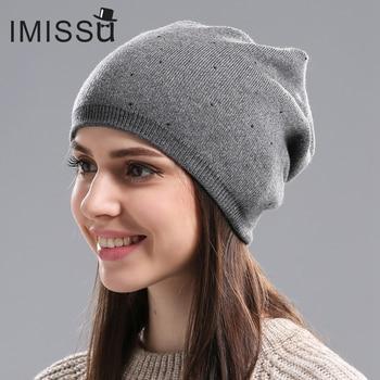 Women's Winter Wool Beanie Female Fashion Skullies Casual Outdoor 4
