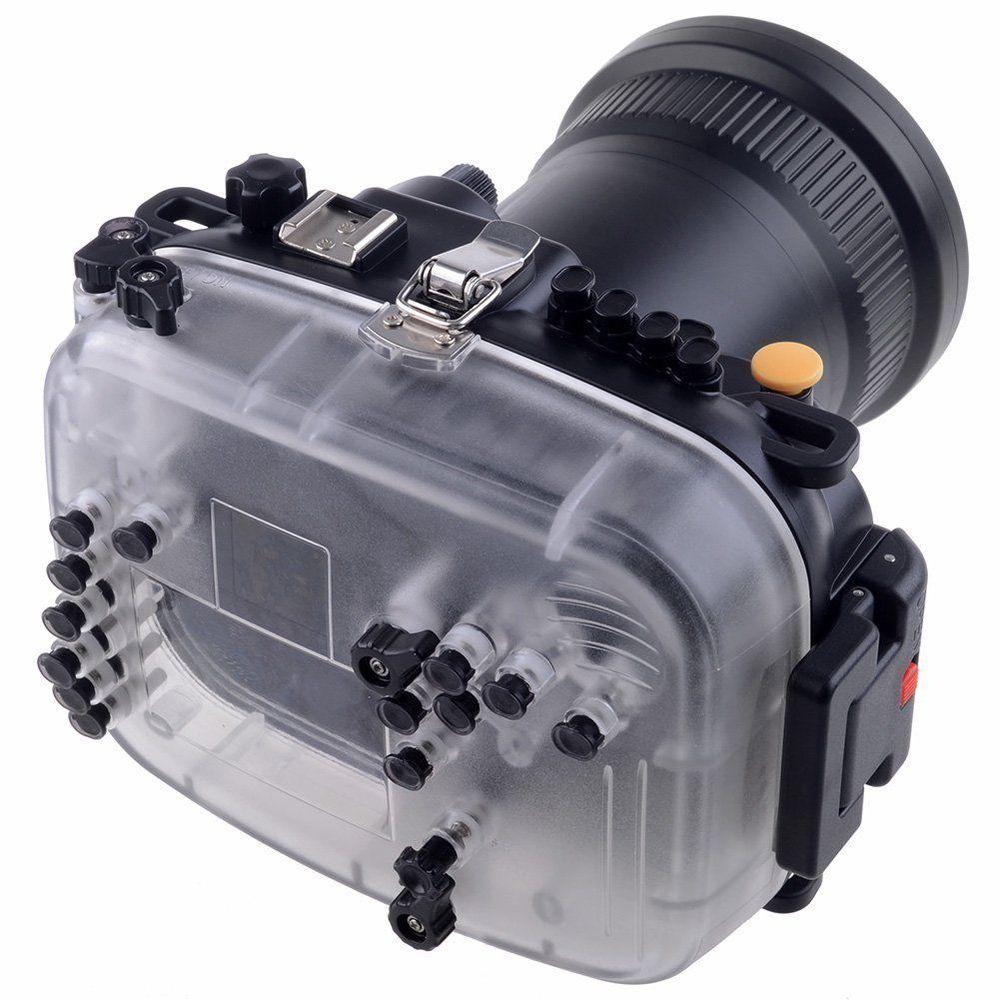 Meikon 60m 190ft Waterproof Underwater Camera Housing Case for Canon 5D Mark III for canon g1x ii powershot meikon 60m 195ft underwater waterproof camera housing case g1x mark ii