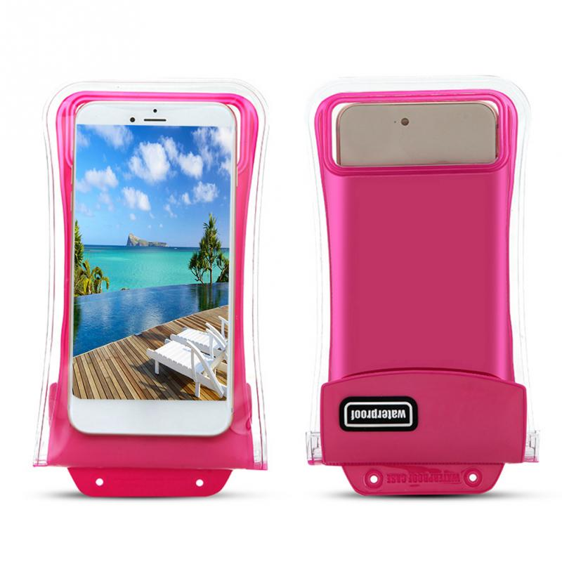 Universal Double-protection Waterproof Bag Floating Case Diving Swimming Phone Bag For iPhone For Huawei 7