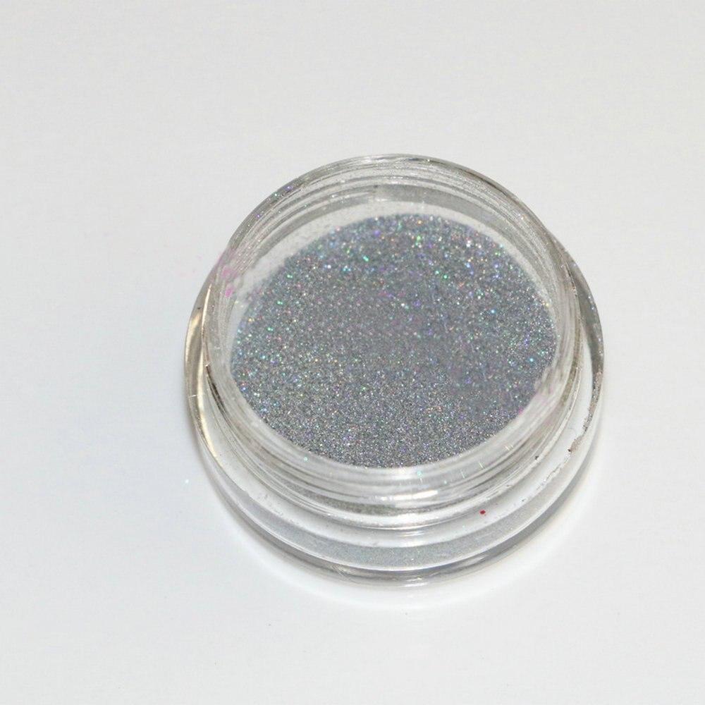 3g Laser Zilver Glanzende Holografische Poeder Magische Spiegel - Nagel kunst - Foto 6