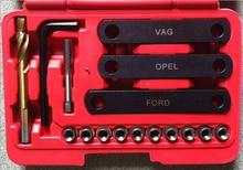 Best price 16pc Car Repair Tools Brake Caliper Guide Thread Repair Kit Set For VAG Opel Ford Audi
