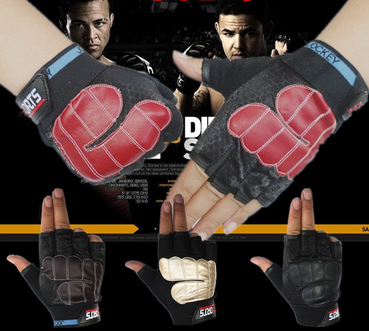 Spring and summer non slip outdoor cycling men's fitness sports semi finger gloves fitness gloves thin spring summer outdoor sports fitness riding army fans fighting semi finger gloves