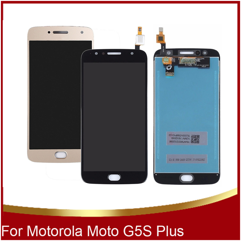 Original 5.5 Mobile Phone LCDs For Motorola Moto G5S Plus LCD Display Touch Screen XT1802 XT1803 XT1805 XT1806 Digitizer Parts