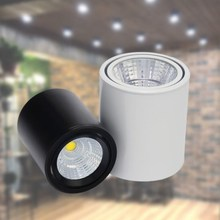 Surface Mounted LED Downlights 10W 15W 20W Dimmable COB Ceiling Spot Light Kitchen Bathroom Lamp AC85-265V