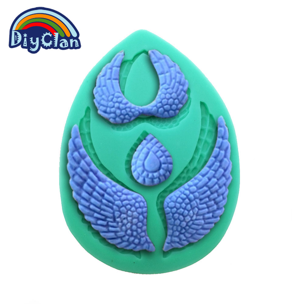 New arrival Angel wings silicone fondant cake molds Chocolate chip ...
