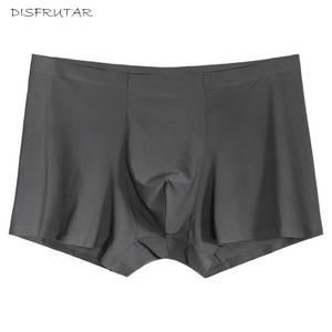 0ac1c3262d Disfrutar Seamless Men Silk Spandex Boxer Underwear Shorts