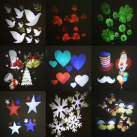 Holiday Decoration LED Night Lamp Outdoor LED Stage Lights 12 Types Christmas Snowflake Projector Lamp Home Garden Star Light