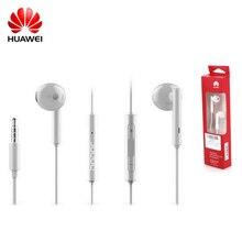 Honor am115 caliente auriculares de 3.5mm con micrófono en la oreja los auriculares música deportes auricular con cable auriculares para samsung iphone xiaomi smartphone