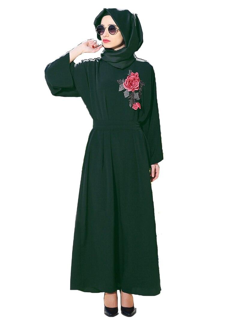 Купить мусульманское платье шифон исламская одежда абая для женщин