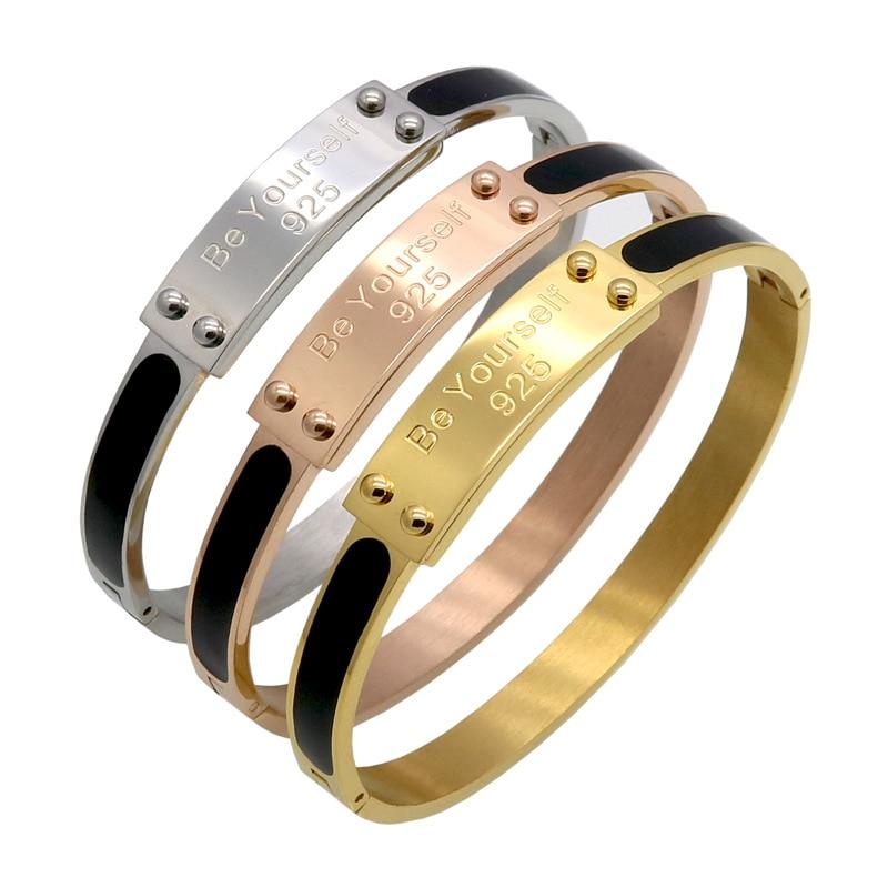 CEB1 Explosions hot new personality stainless steel rivet bracelet buckle  titanium steel stainless steel bracelet jewelry