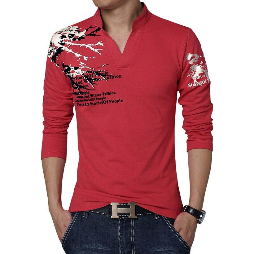 2017 New Fashion Printed Men's Polo Shirt Casual V-Neck ...