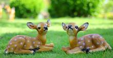 Sika deer home decoration, garden outdoor resin crafts