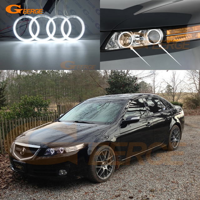 For Acura Tl Type S 2007 2008 Xenon Headlight Excellent Angel Eyes Ultra Bright Illumination Ccfl Kit Halo Ring