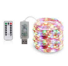 USB LED String lights Holiday lighting For Christmas Tree Wedding Party Decoration