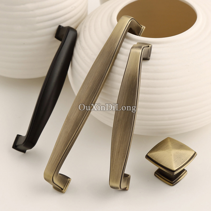 New-style 10PCS European Retro Kitchen Door Furniture Handles Vintage Cupboard Drawer Wardrobe Cabinet Pulls Handles & Knobs