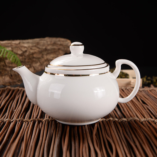 Nordic Handmade Ceramic Teapot Gold Inlay Home Office Teapots Porcelain Tea Pot Bone China Kettles Decor Drop Shipping Заварочный чайник