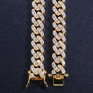Image 3 - Uwin 9 Mm Micro Pave Iced Cz Cubaanse Link Kettingen Kettingen Goud Kleur Luxe Bling Bling Sieraden Mode Hiphop Voor mannen
