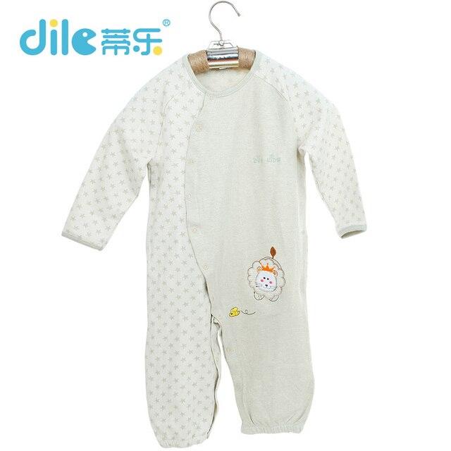 Новый Ребенка Ползунки Длинные Рукава 100% Хлопок Детские Пижамы прекрасные младенческой яровой мягкой одежда
