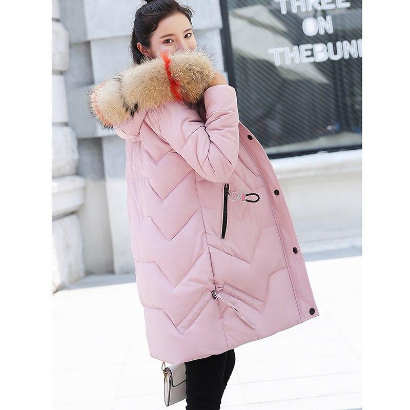 De Mode Manteau Bas Fourrure Jaquetas Femmes Beige black Long Veste Le Hiver Avec Col Zs489 Feminino Inverno red 2018 pink Vers Chaud Rembourré Coton Parkas qfxEXI8wE