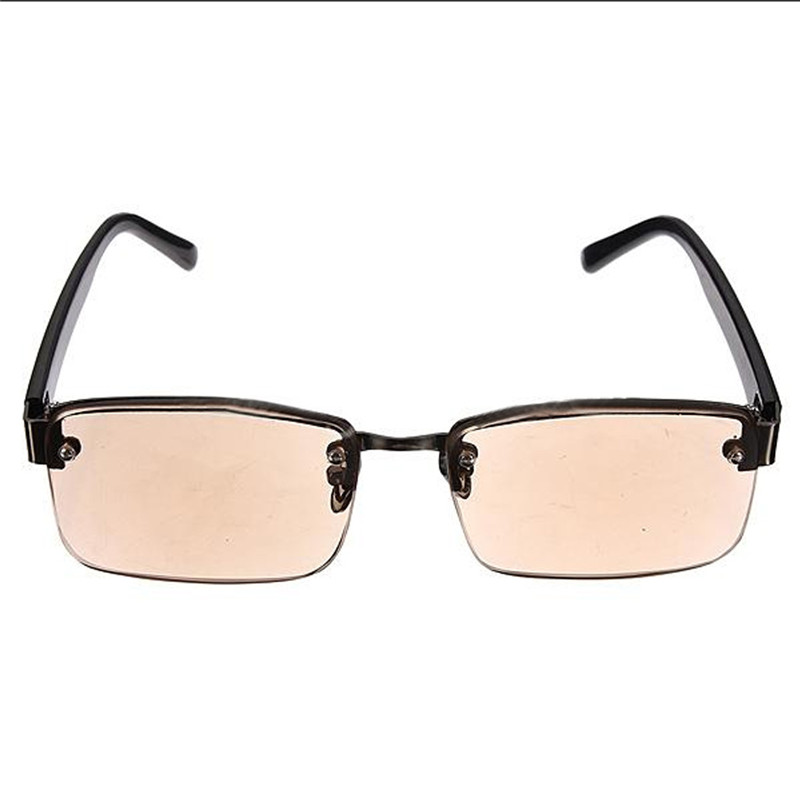 brown half frame reading glasses presbyopia