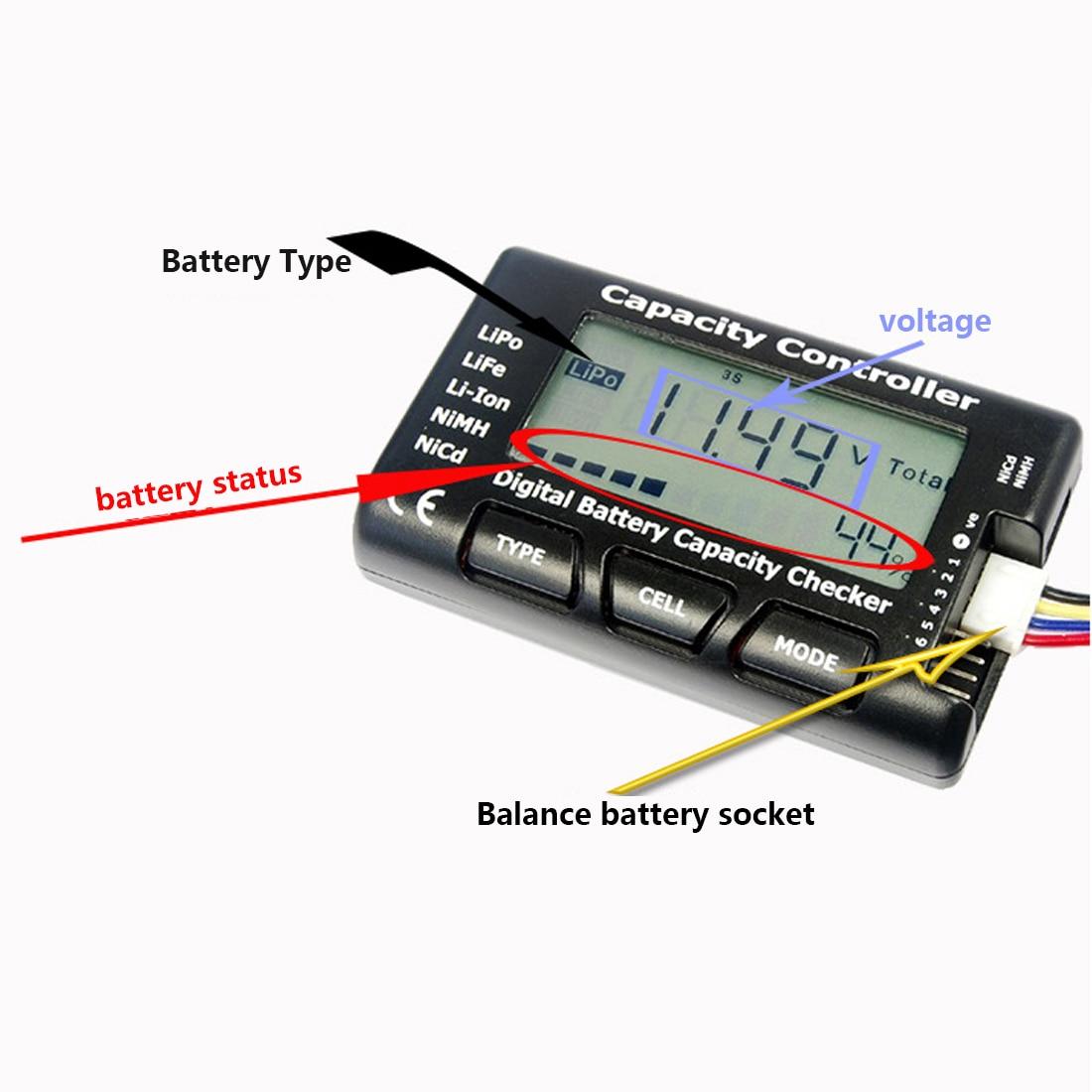 טוב RC CellMeter-7 דיגיטלי סוללה תא קיבולת בודק LiPo LiFe Li-Ion NiMH Nicd הסוללה מתח Tester בדיקה