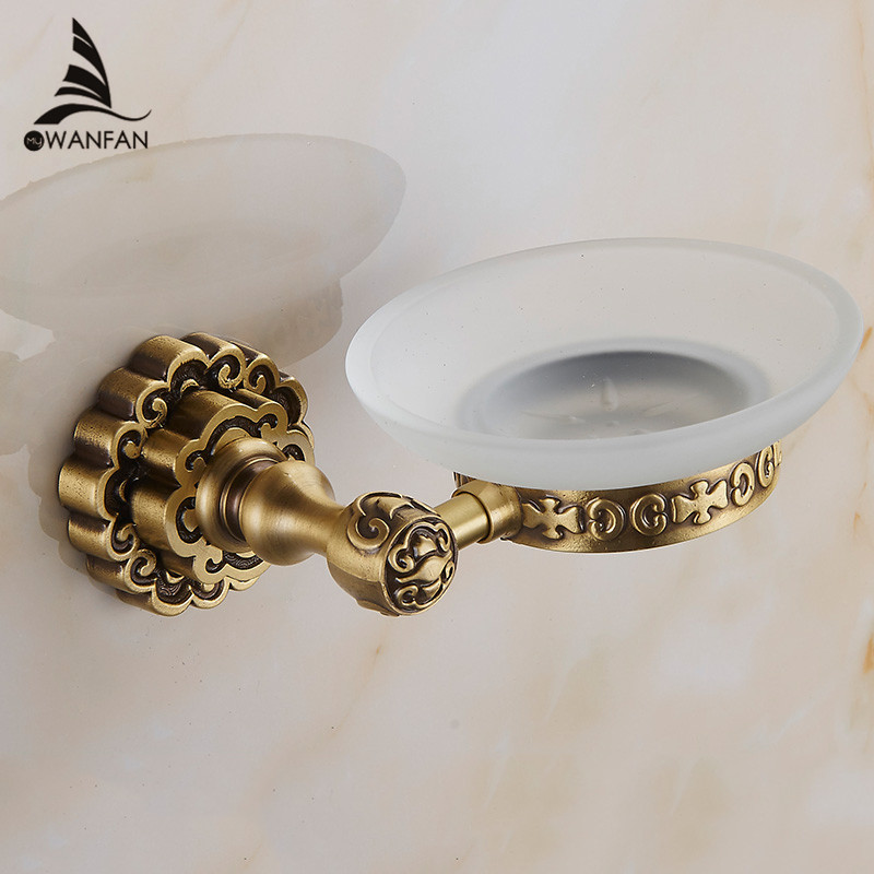 Soap Dishes Antique Finish Solid Brass Wall Mounted Soap Holder Bath Storage Art Carving Bathroom Accessories Soap Dish 10705F art soap пластилиновое мыло бабочка art soap