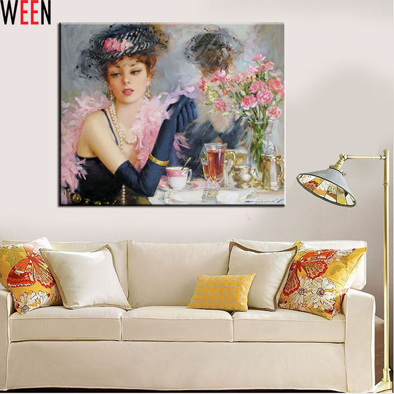 Frameless Picture On Wall Coloring By Numbers Bride Acrylic Painting Abstract Drawing Unique