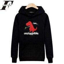 Kpop Harajuku Sweatshirt Hoodie Unstoppable Red Dinosaur Hoodies Men/Women streetwear Sudadera oversized hoodie Tracksuit Coat