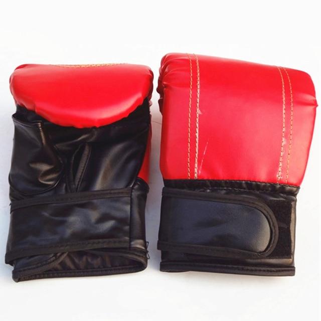 Faux Leather MMA Boxing Muay Thai Sandbag Fight Combat Training Fist Gloves Hot