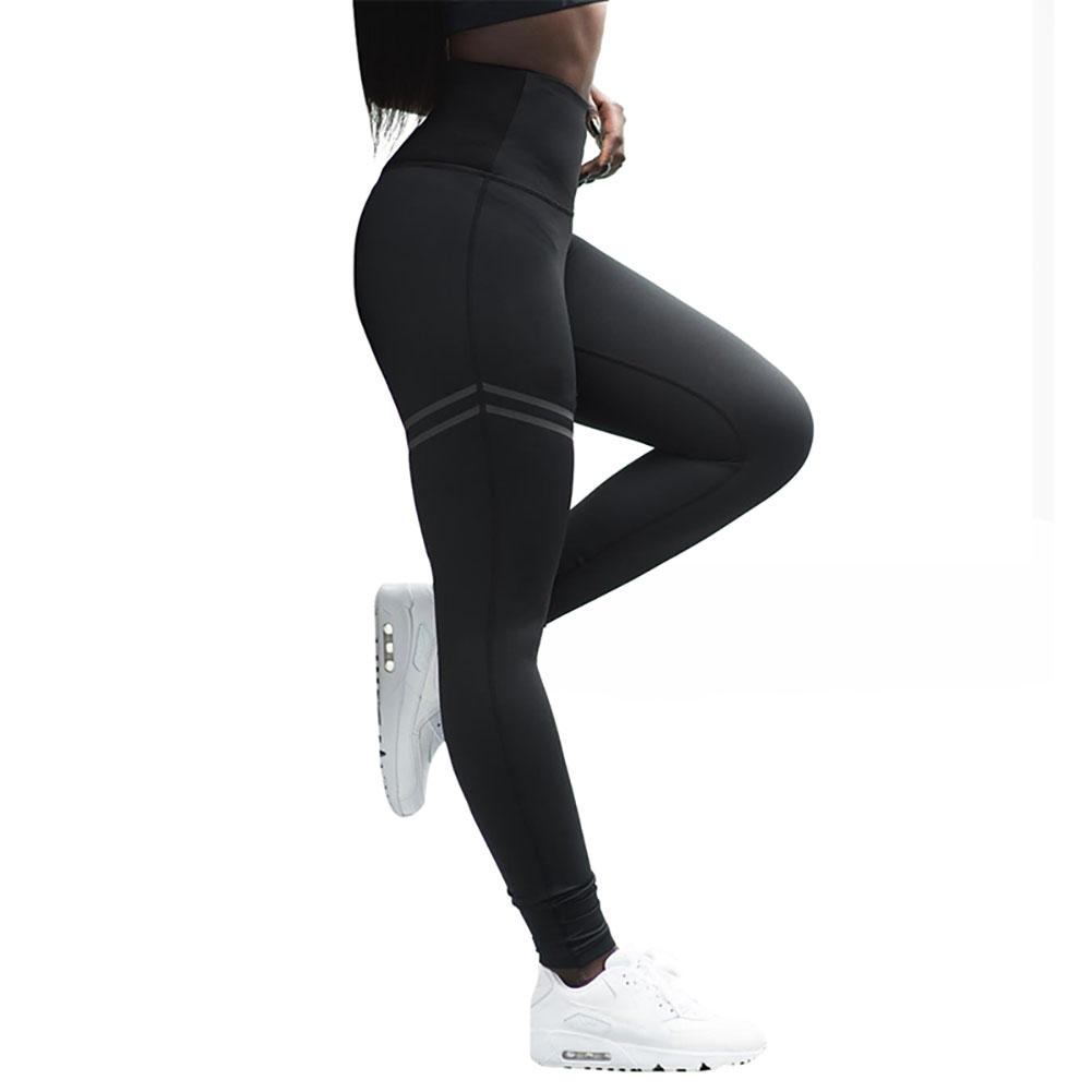 Female Trousers Joggers Women Pants Leggings Skinny Striped High-Waist Mesh Gym Solid