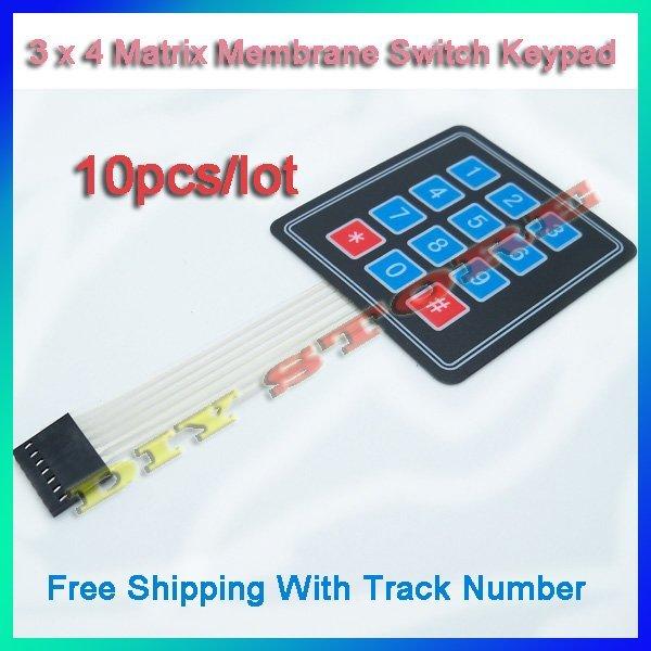 Free shipping 10pcs/lot 3 x 4 Matrix Membrane Switch Keypad Fit for SCM Peripheral Expansion-10000016