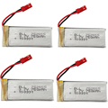 4Pcs/lot Lipo Battery 3.7V 750mAh JST For Syma Udi WLtoys V626 V636 V686 V686G V931 JJRC H12C RC Quadcopter Drone Bateria Lipo