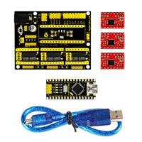 Free Shipping NEW CNC Shield V4 Engraving Machine Kit For Arduino