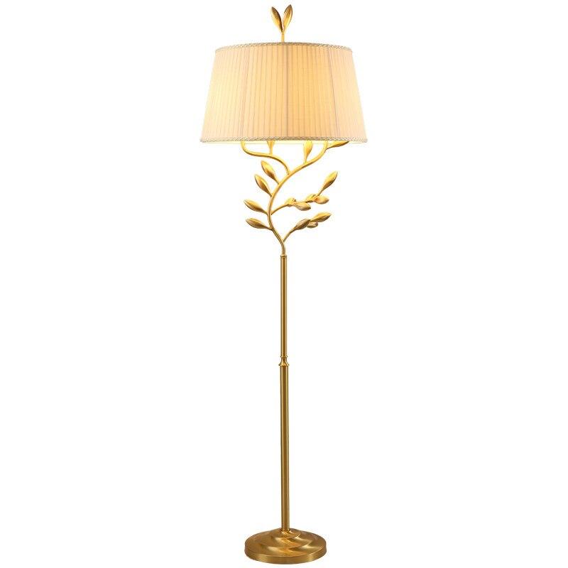 Floor Lamp Living Room American Led Standing Light For Office Reading copper lights bedroom bedside LED e27 Lighting fixture