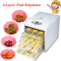1pc Electric Food Dehydrator With 6 Layers Steel Fruit Vegetable Drying Machine 220V Pet Food Dehydrator