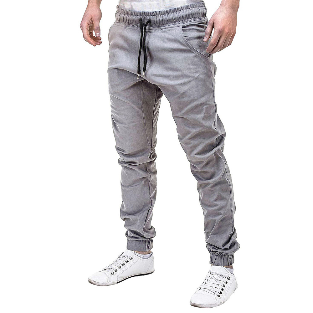 2019 Men Pants Casual Men Sweatpants Slacks Casual Elastic Joggings Sport Solid Baggy Pockets Trousers Drop Shipping W624