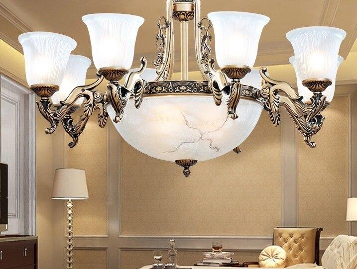 Multipla Lampadario Lampade luce antico color bronzo moda lampada da letto lampada ristorante ZX97