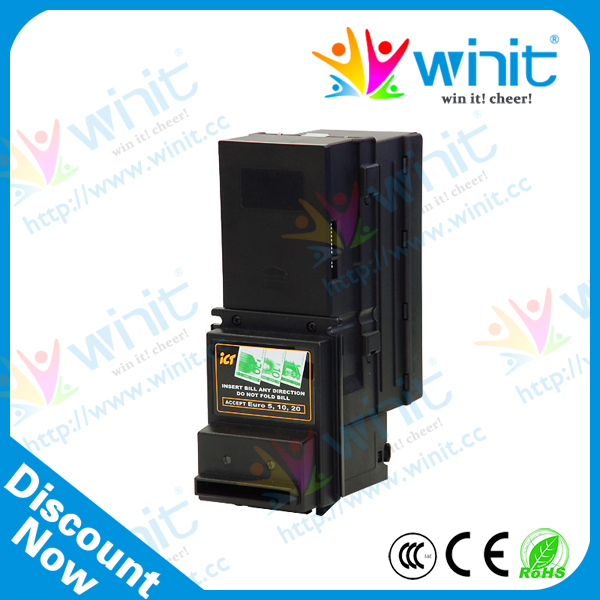 US $250 0 |ICT A6 Bill Acceptor with Bill Box Note Cash Money Bill Acceptor  Vending Machine Automatic-in Coin Operated Games from Sports &
