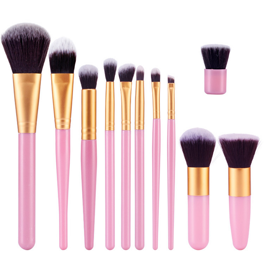 11Pcs/lot Professional Makeup Brush Set Cosmetics Power Foundation Blush Eye Shadow Blending Fan Make Up Kits Beauty maquiage кисть tony moly professional blending shadow brush 1 шт