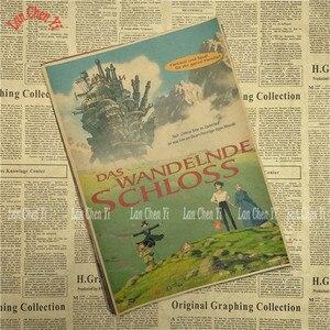 Image 5 - Póster de papel Kraft clásico de película de dibujos animados de houls Moving Castle Miyazaki Hayao