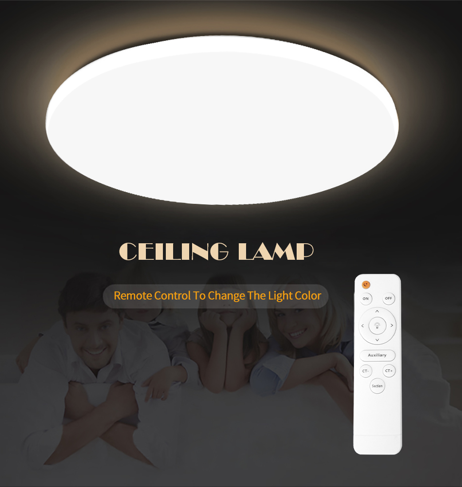 HTB16nplX5HrK1Rjy0Flq6AsaFXaq Modern LED Ceiling Light Lighting Fixture Lamp Surface Mount Living Room Bedroom Bathroom Remote Control Home Decoration Kitchen
