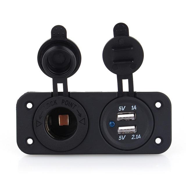 2018 12V Dual USB Car Cigarette Lighter Socket Splitter 12V Charger Power Adapter Outlet Accessories New Arrive