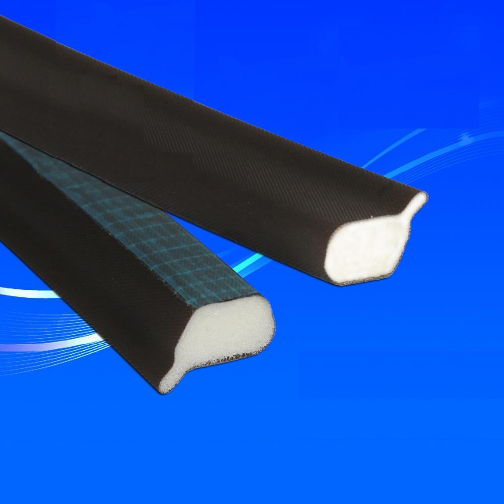 High Resilience PE Wrap PU Foam Adhesive Sealing Strip Door Window Seals Gasket 15.4 x 10.5mm 1.97m 3pcs  White Brown